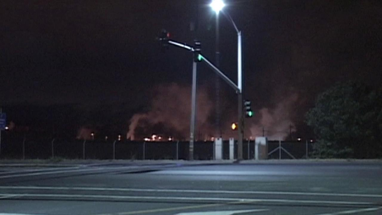 An early morning fire broke out at the Chevron refinery in Richmond on Wednesday.