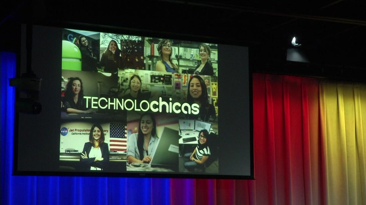 TECHNOLOchicas conference is seen in Mountain View, Calif. on Wednesday, April 26, 2017.