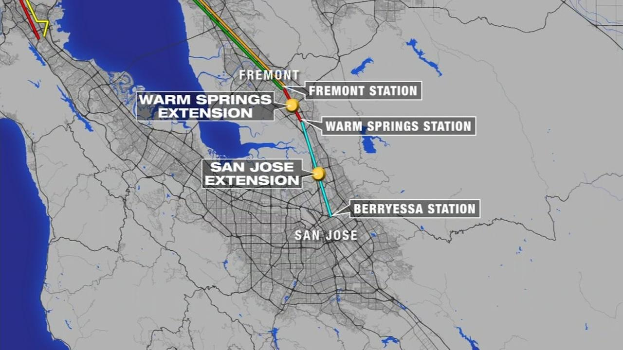 BART Silicon Valley extension stops are on schedule to open in December