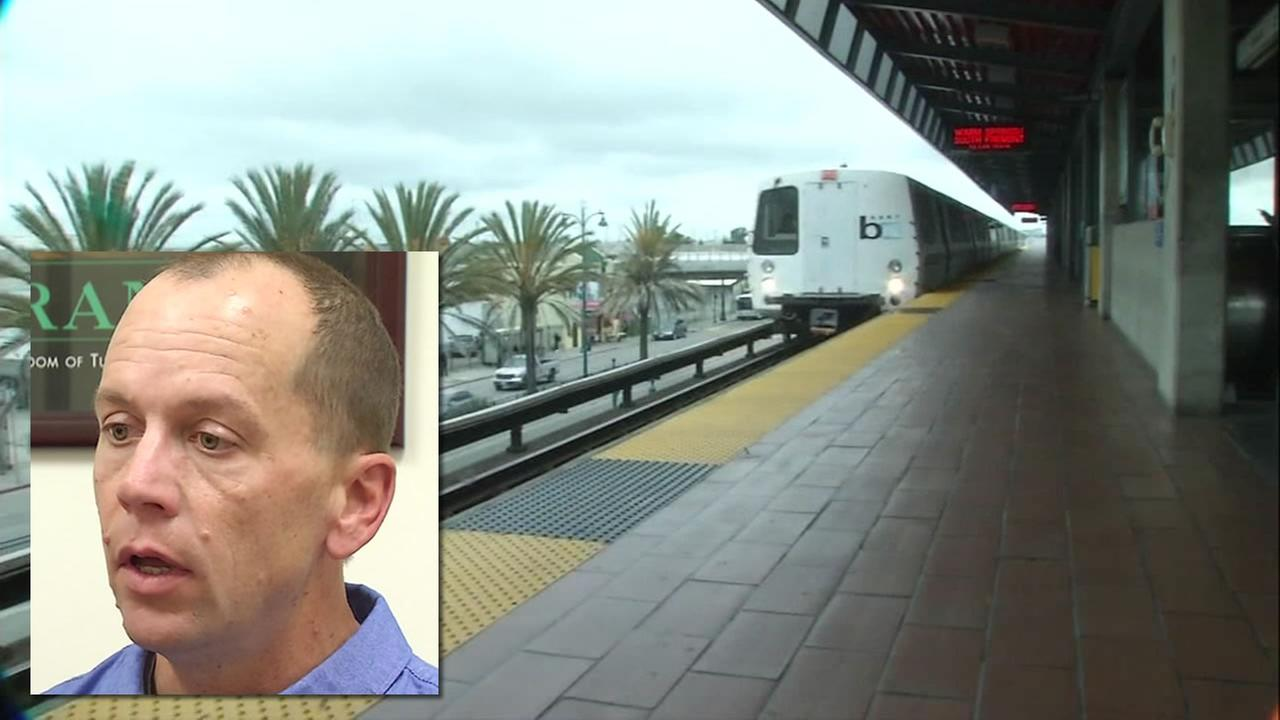 Dublin resident Rusty Stapp is suing BART for gross negligence after he was beaten in a mob attack on a train in April.