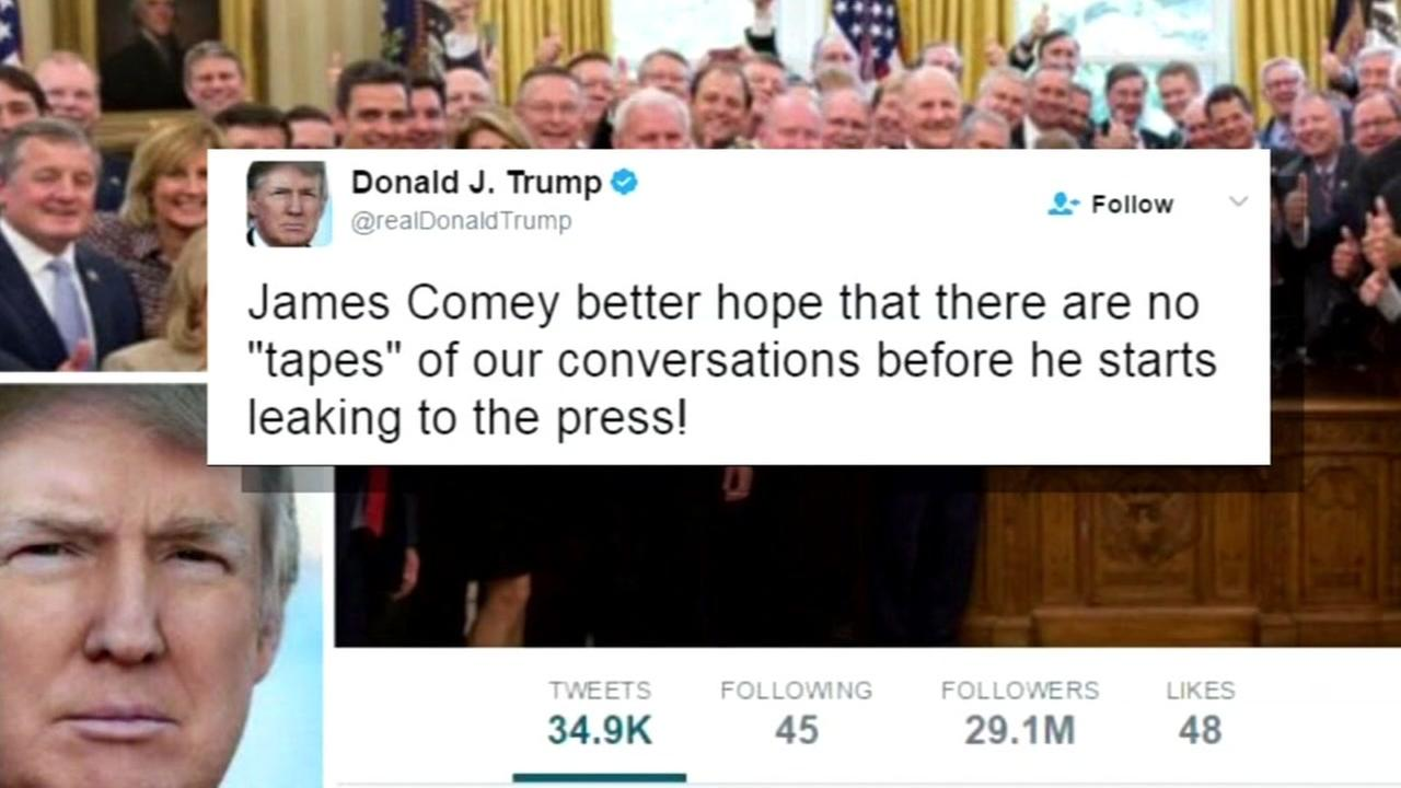 A tweet from President Trump is seen in this undated graphic.
