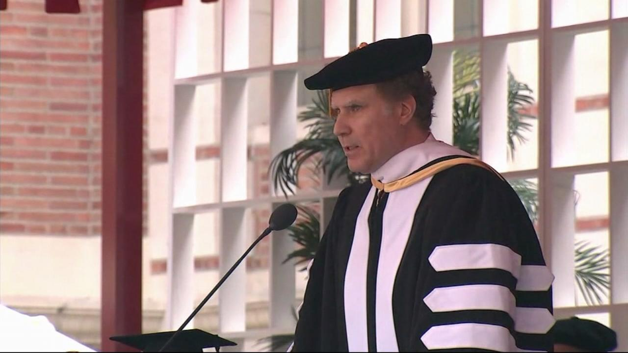 University of Southern California alum Will Ferrell delivered the keynote commencement address at his alma mater Friday.