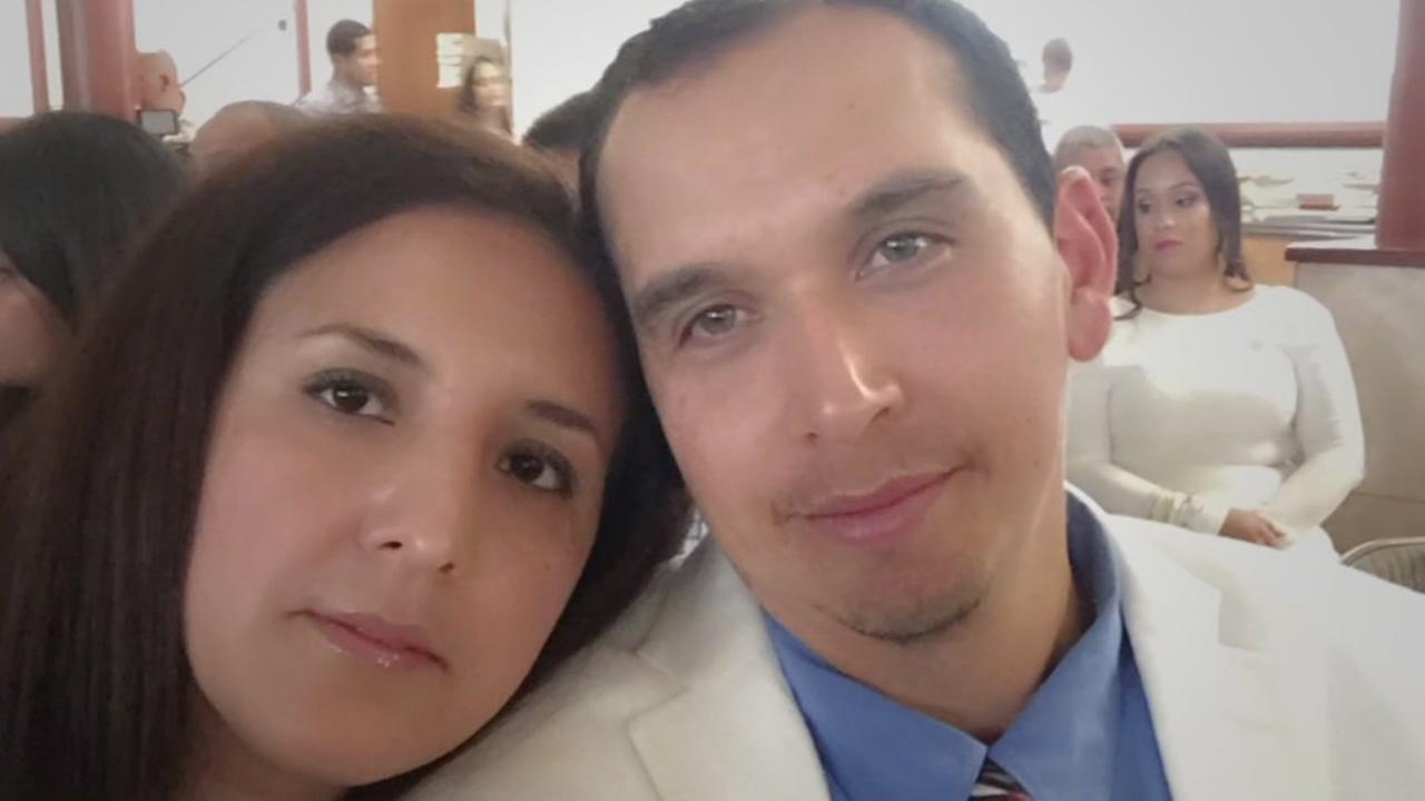 Undocumented immigrant Hugo Mejia and his wife are seen in this undated image.