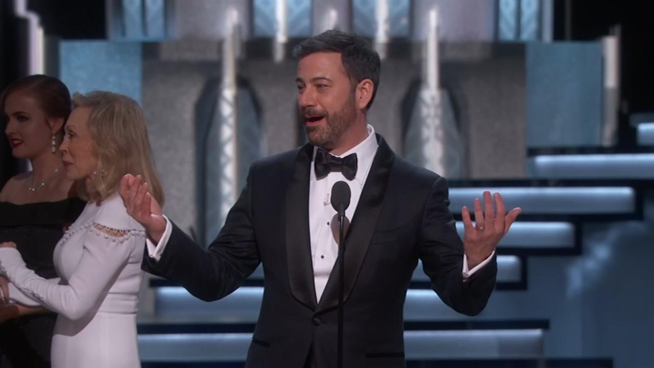 Jimmy Kimmel hosts the Oscars on Feb. 26, 2017.