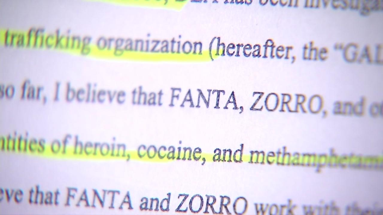 A criminal complaint involving the DEA and SFPD is seen in this undated image.
