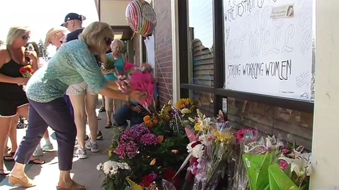 vigil held for woman killed in Stockton bank robbery