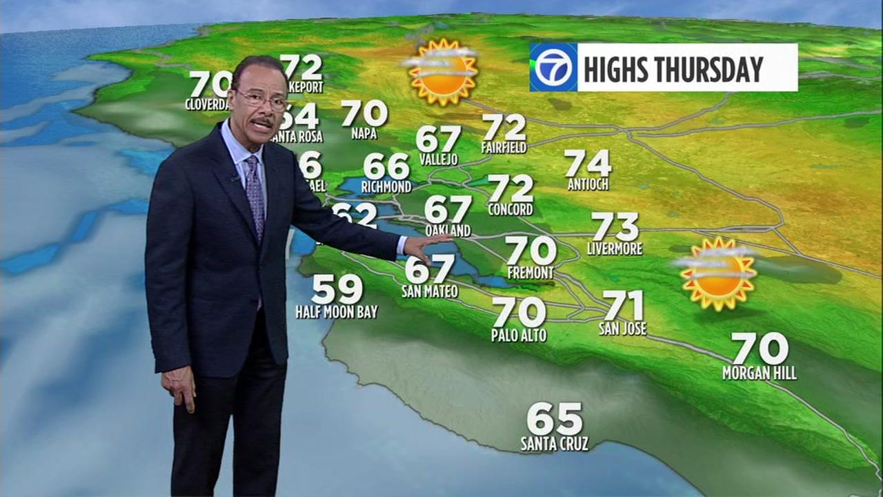 ABC7 AccuWeather forecast for Thursday morning