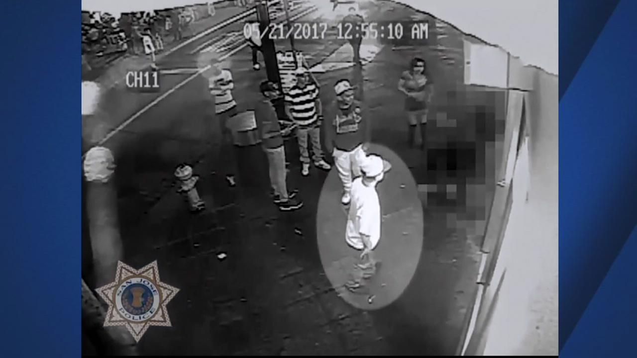 SURVEILLANCE VIDEO: Suspects in stabbing of SJSU football player