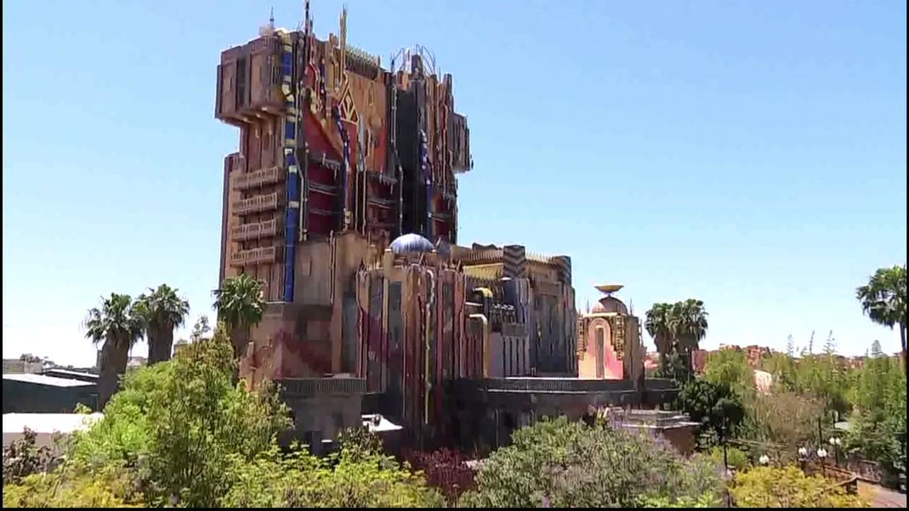 The outside of Disneys Guardians of the Galaxy - Mission: BREAKOUT! is pictured in this photo taken on Friday, May 26, 2017.