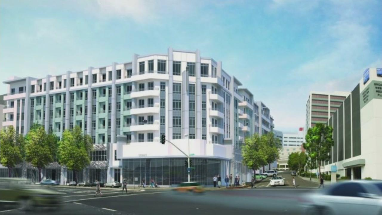 This is a rendering of what an Oakland, Calif. building that partially collapsed on Friday, May 26, 2017 is supposed to look like when completed.