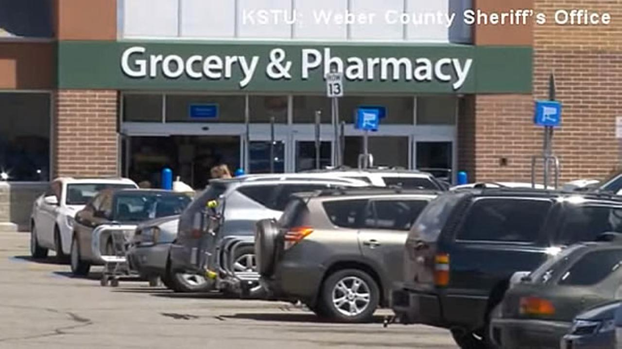 Cars are seen in a Walmart parking lot in Utah in this undated image.