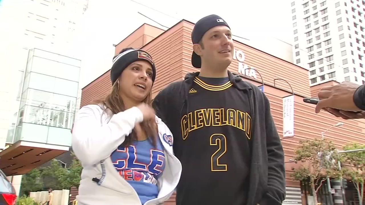 Two Cleveland Cavaliers fans speak to ABC7 News ahead of the NBA Finals on May 30, 2017.