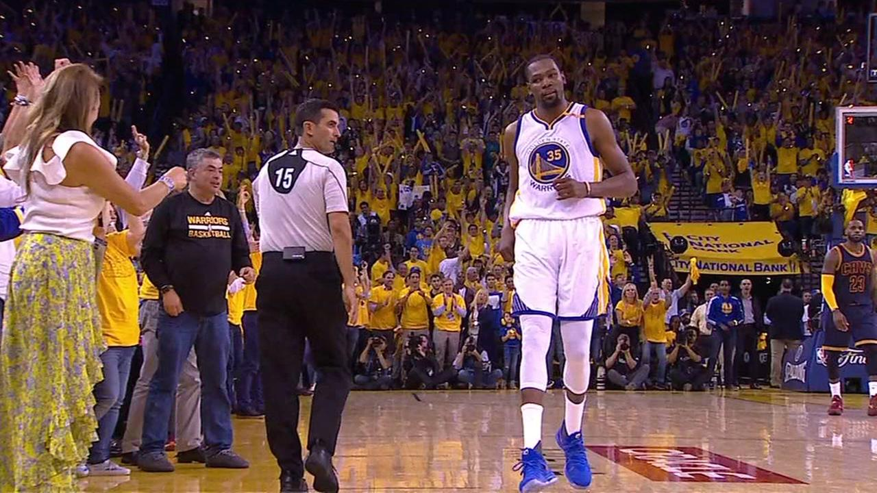 1eccd9418551 All the NBA Finals talk Friday morning on social media is about Kevin  Durant s apparent stare down with singer Rihanna