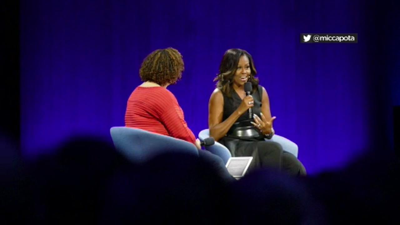 Michelle Obama speaks at Apples Worldwide Developers Conference in San Jose, Calif. on June 6, 2017.