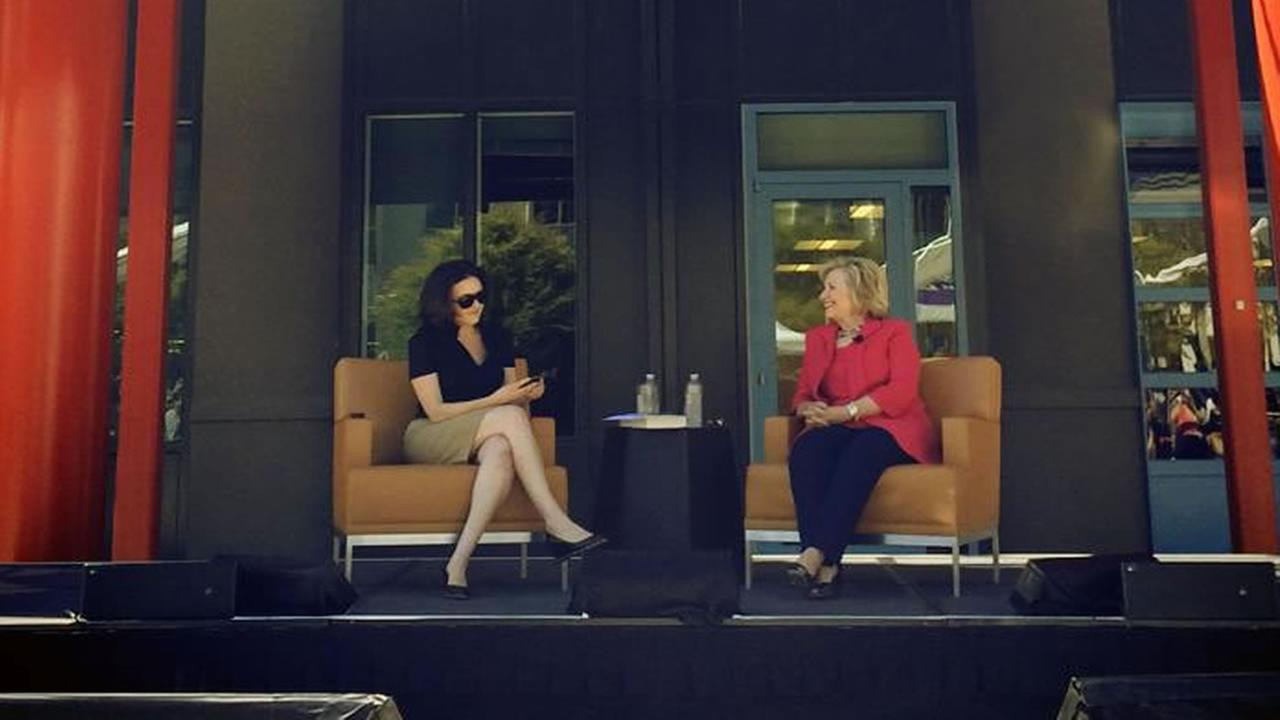 Former Secretary of State Hillary Clinton visited Bay Area tech companies on Monday. <span class=meta>(Andrew Bosworth&#47;Facebook)</span>