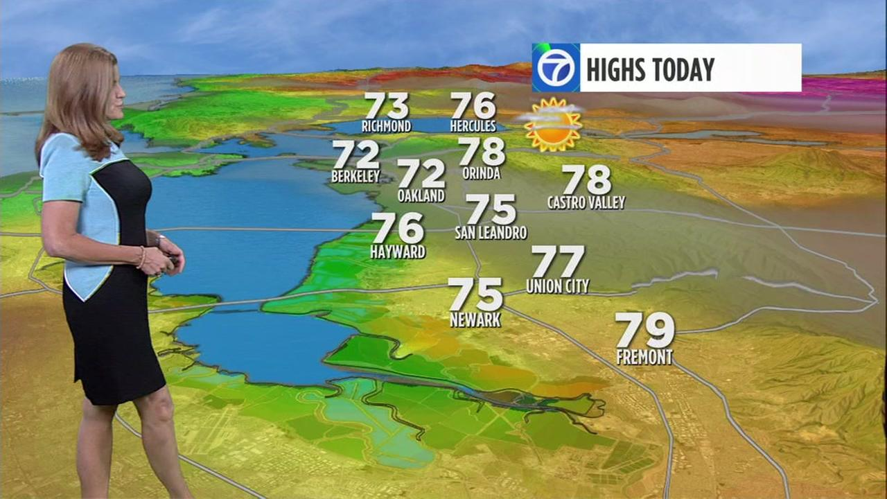 ABC7 News Weather forecast for Saturday morning
