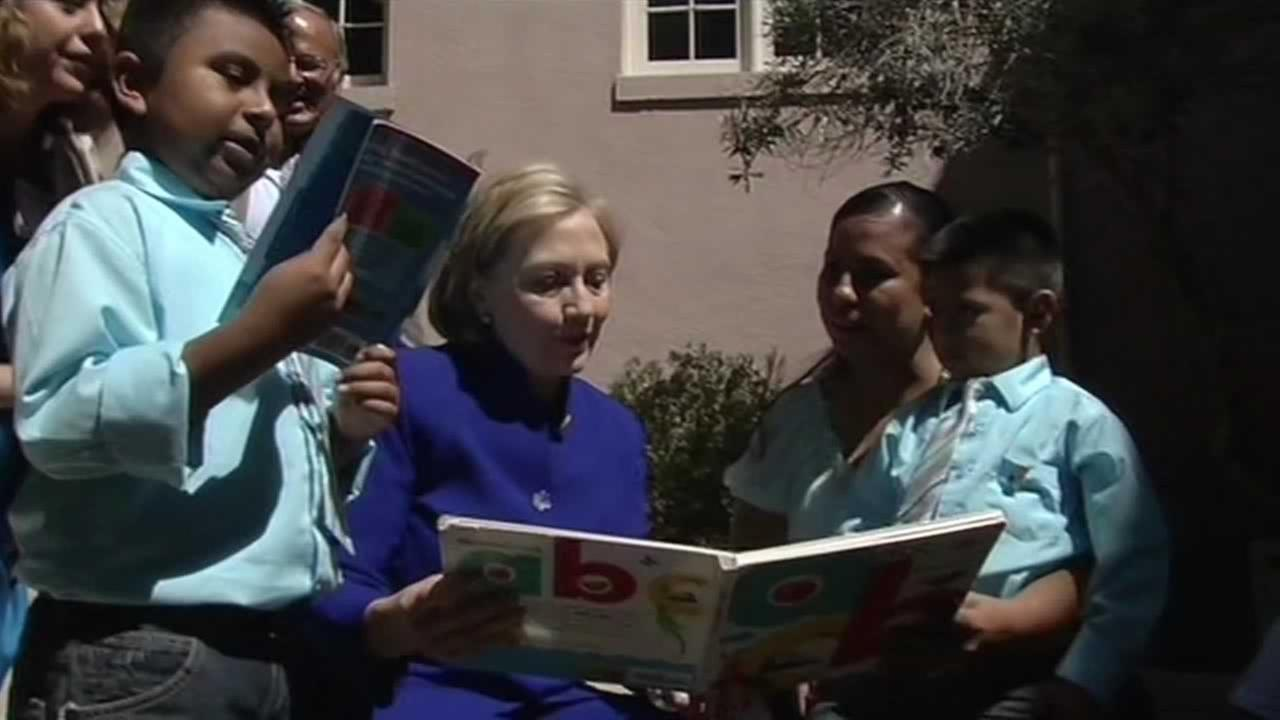 Hillary Clinton was at an event in Oakland today to promote Too Small to Fail, a new program that aims to close the literacy gap for inner city kids.