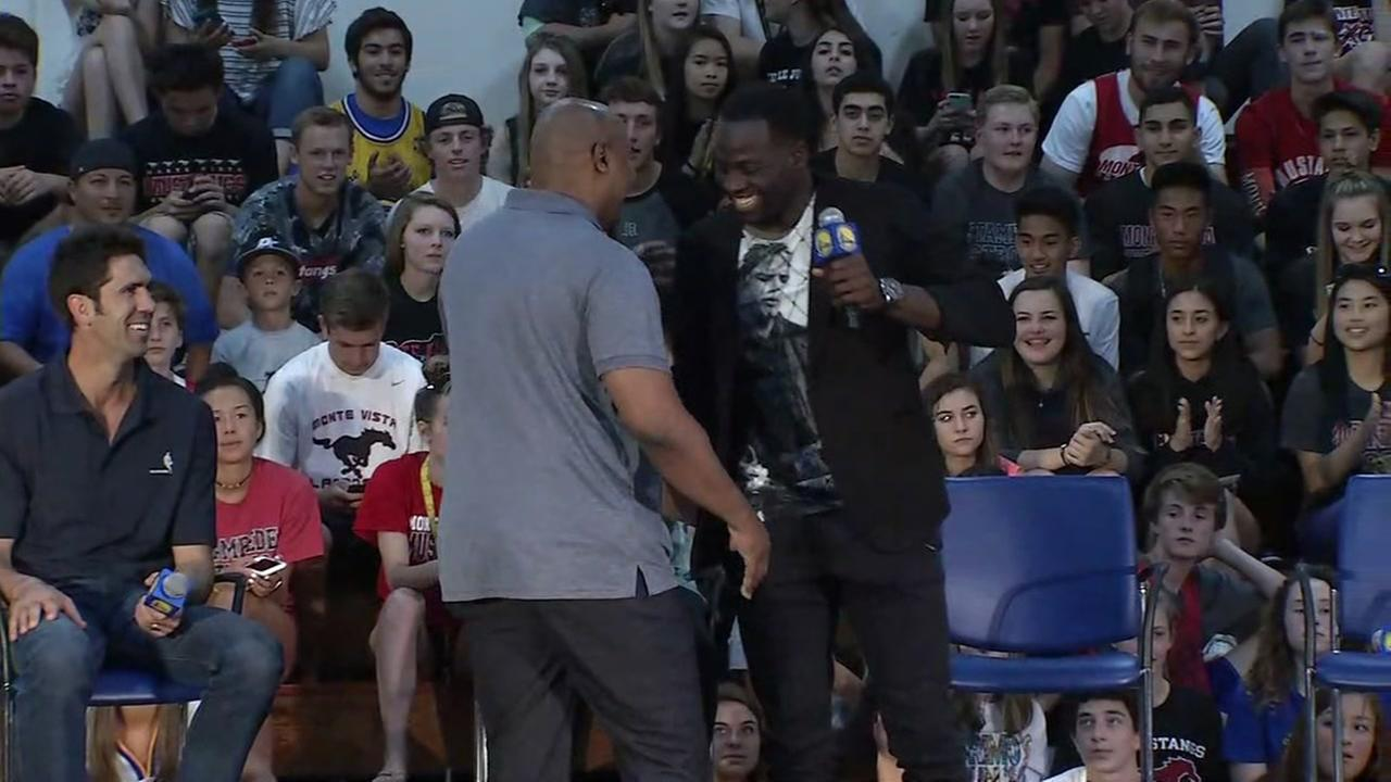 WATCH LIVE: Warriors Draymond Green, Bob Myers speak at Danville high school