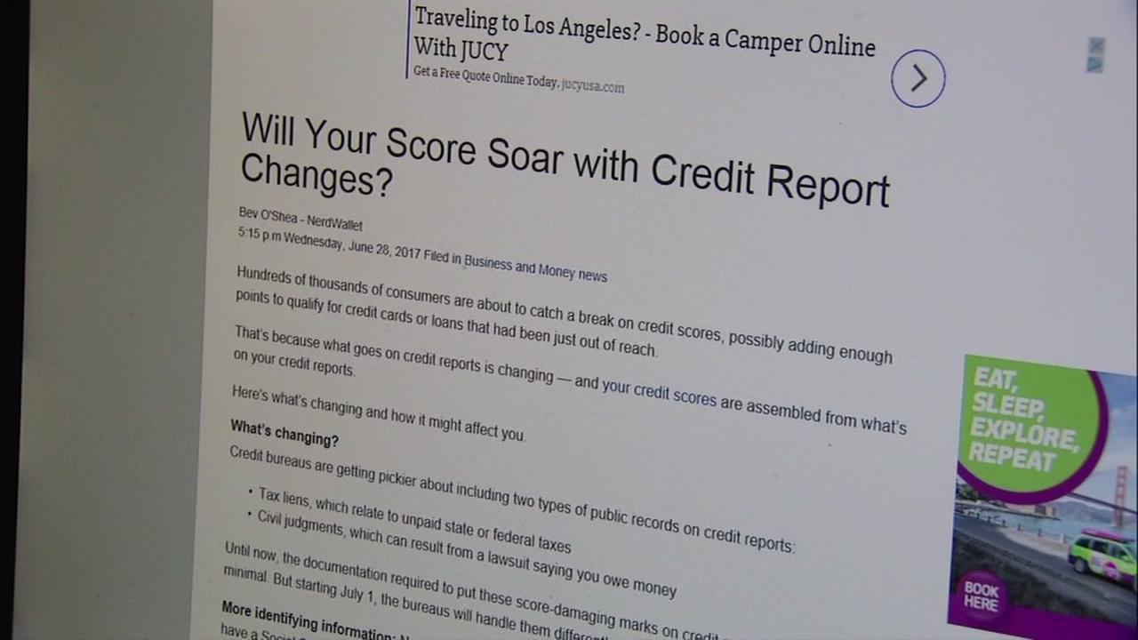 This is an undated image of a computer showing credit score information.