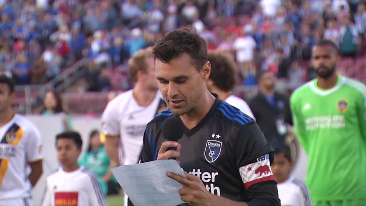 San Jose Earthquakes player Chris Wondolowski is seen at Stanford Stadium at Stanford University on Saturday, July 1, 2017.