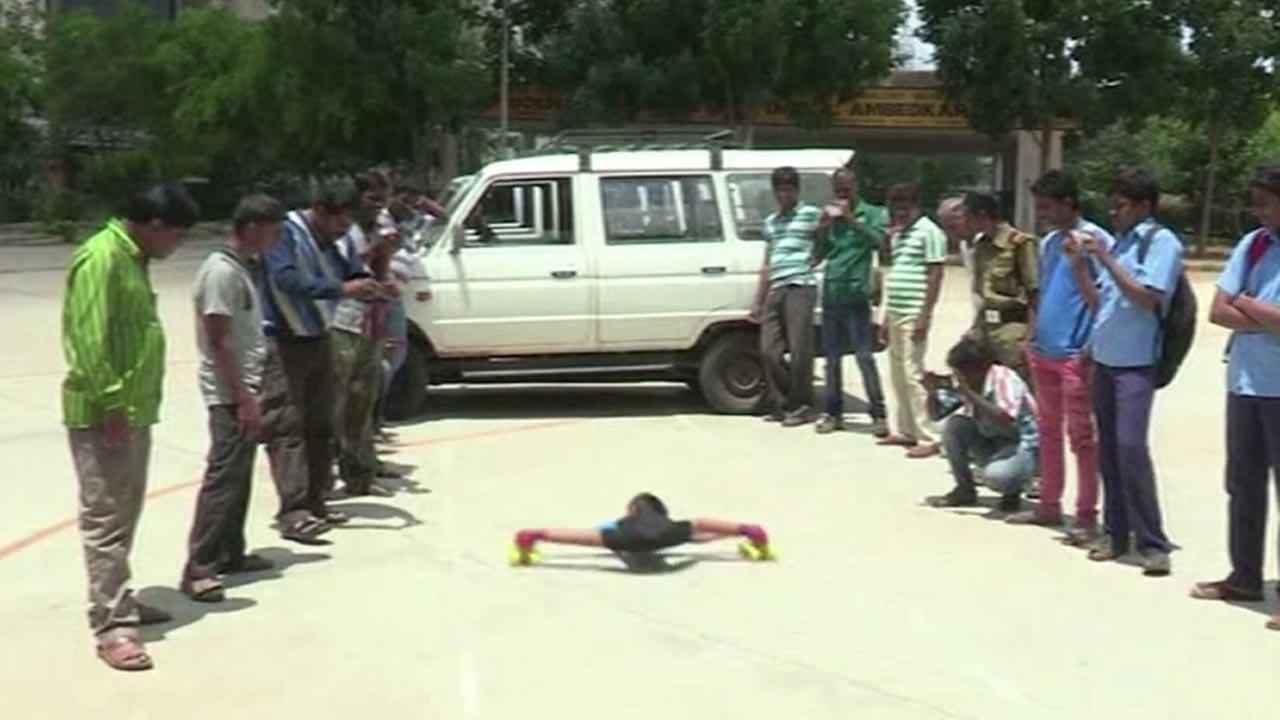 A boy from Bangalore, India, has some extreme skating skills.