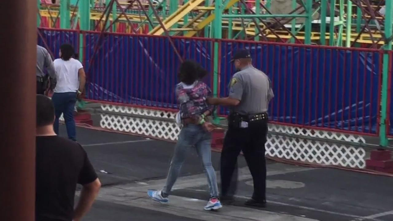 Arrests made at Alameda County Fair in Pleasanton, California, Tuesday, July 5, 2017.
