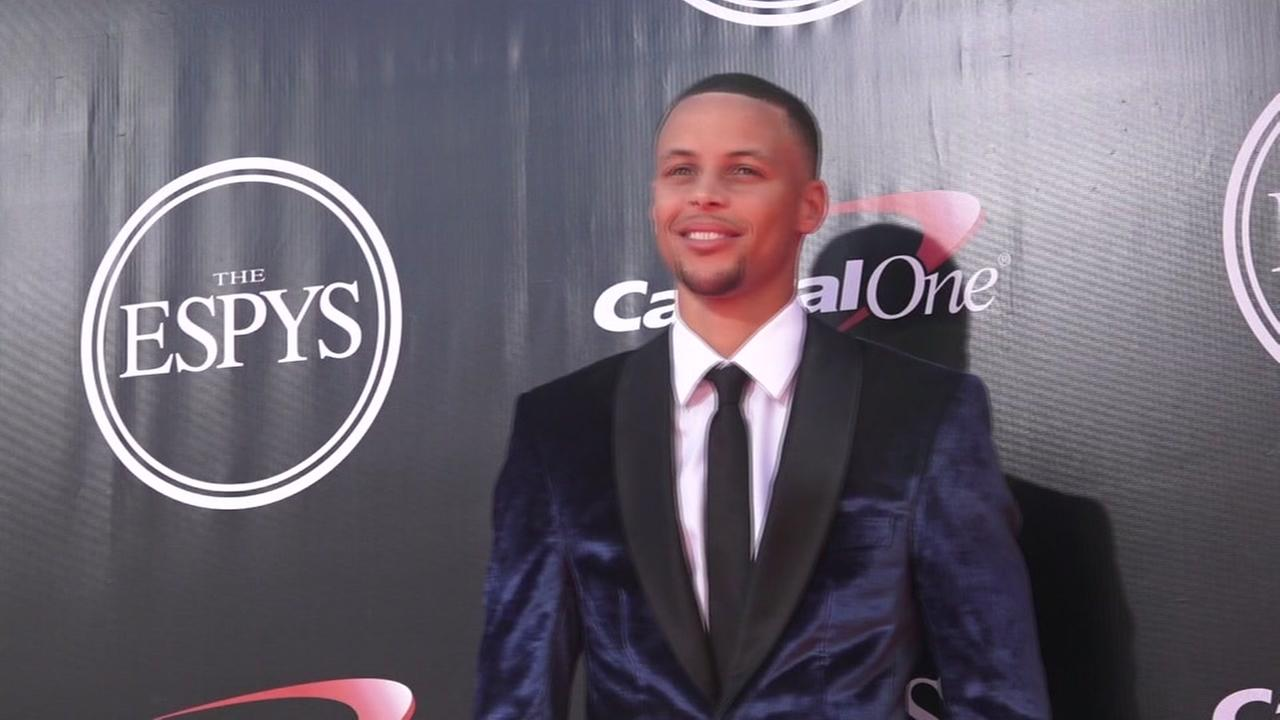 Stephen Curry appears at the 2016 ESPY awards in Los Angeles, Calif.