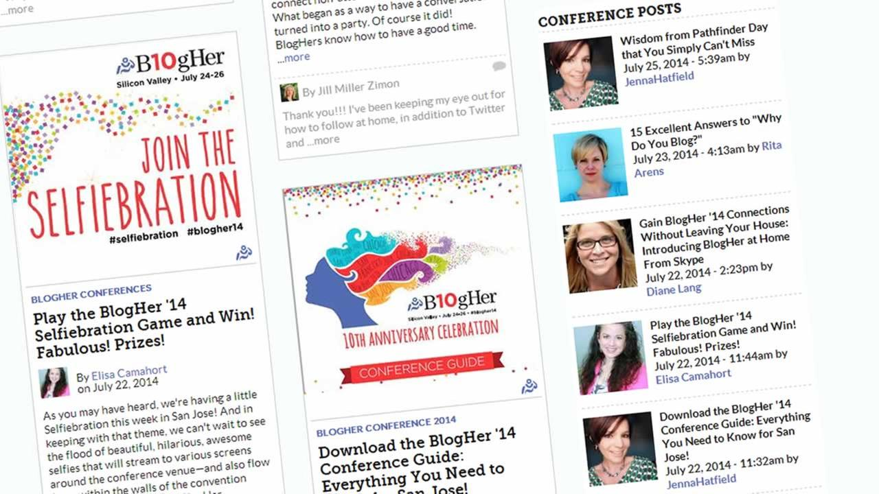 The BlogHer conference is in its 10th year and underway in San Jose.