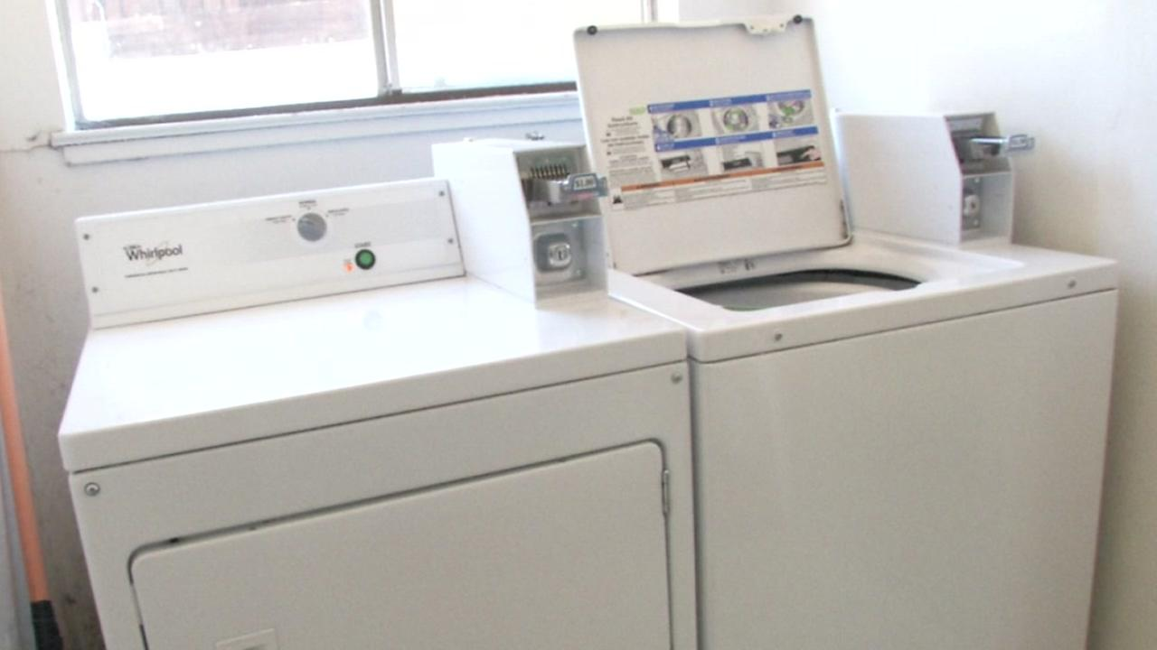 A coin operated washer and dryer are seen in this undated image.