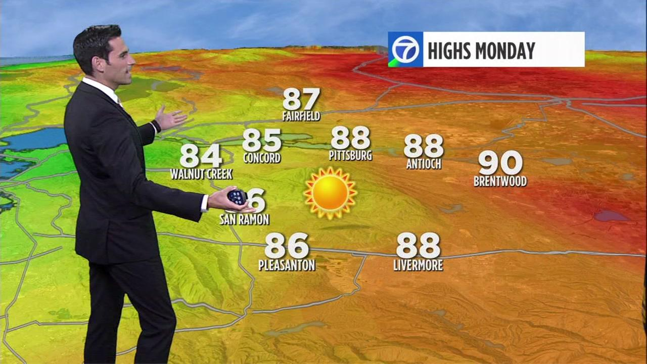 ABC7 AccuWeather forecast for Monday morning