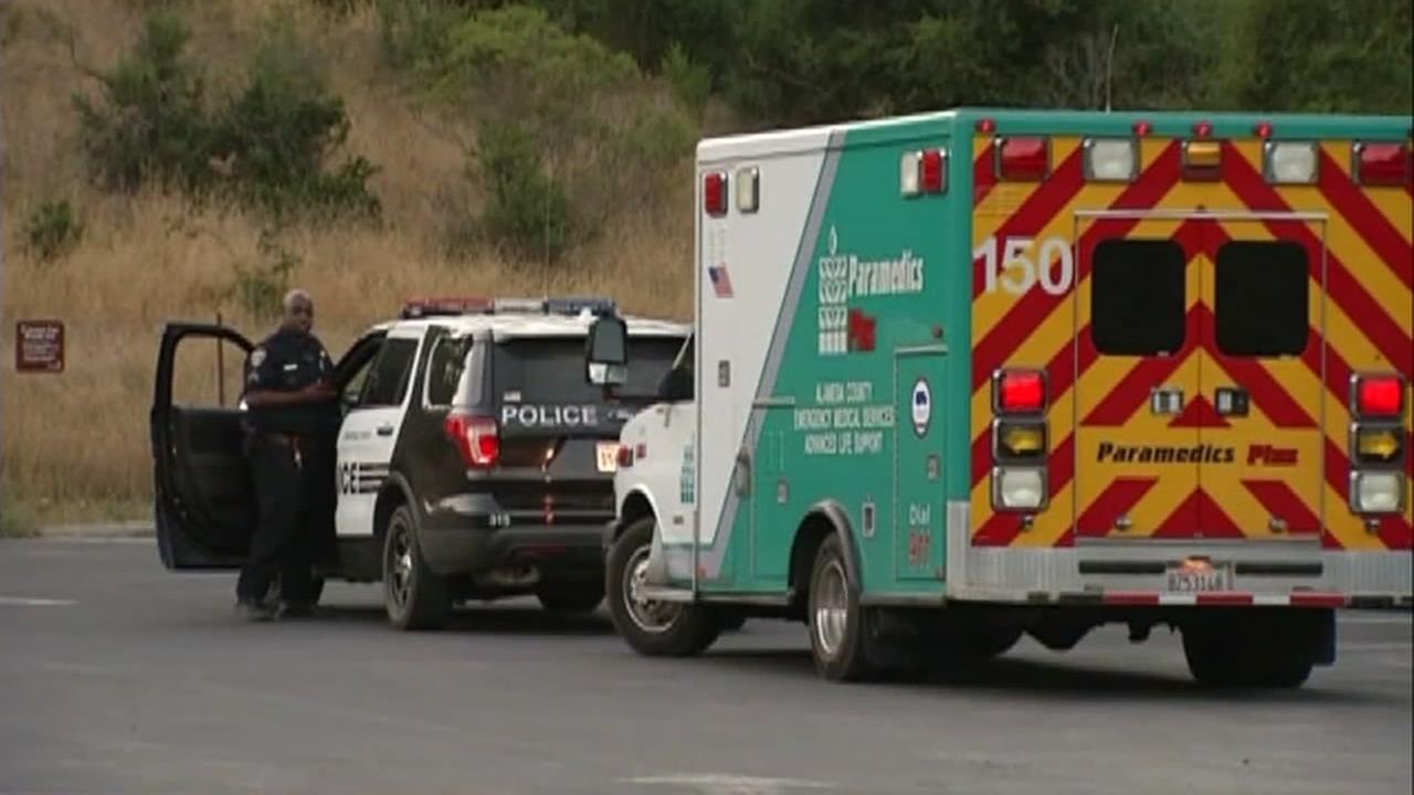 Police and paramedics are seen in Anthony Chabot Regional Park in Castro Valley on Sunday, July 23, 2017.