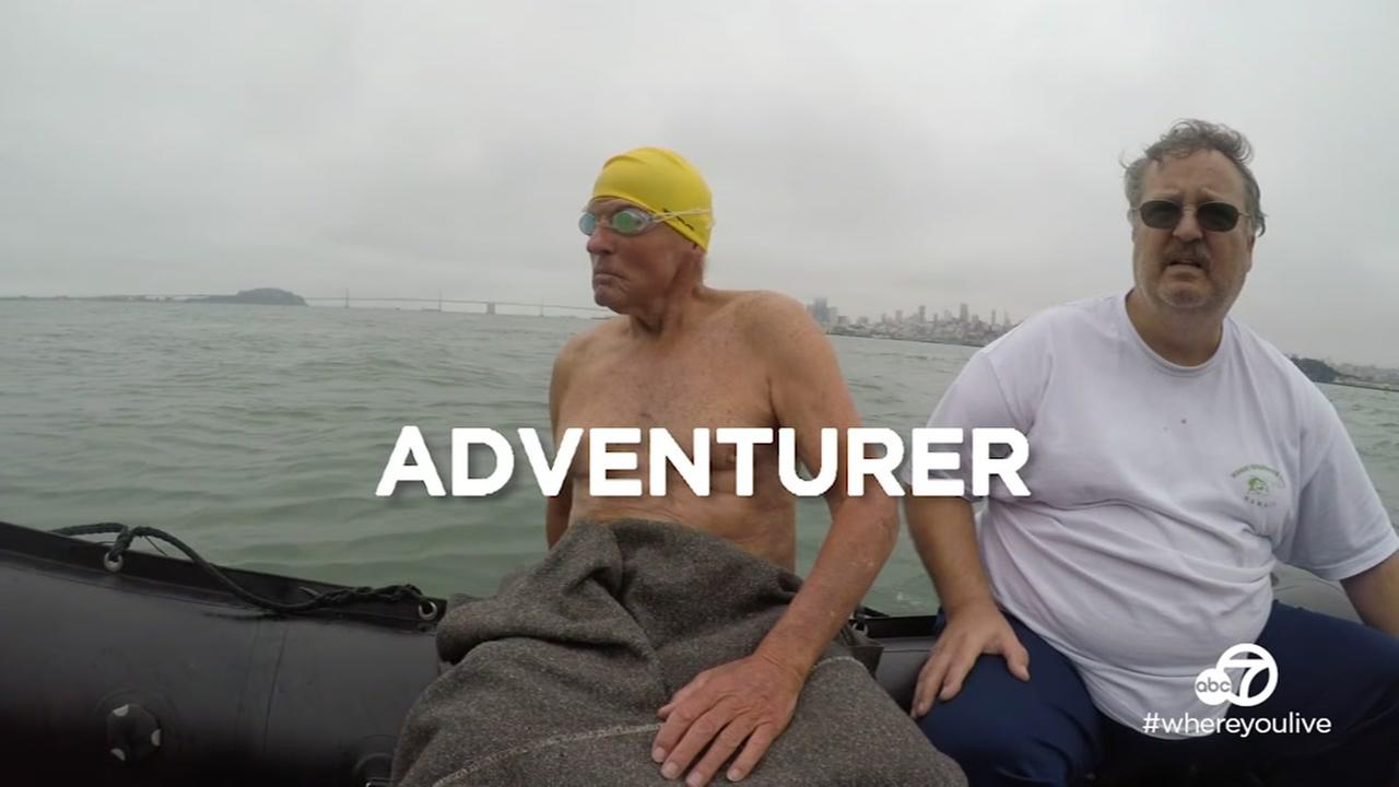 VIDEO: 87-year-old adventurer makes swim from Alcatraz to Aquatic Park