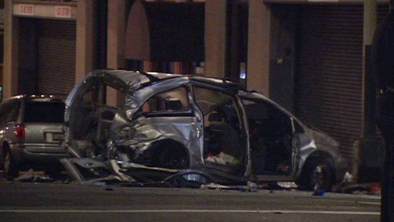 A stolen minivan caused a chain reaction injury accident in San Francisco.