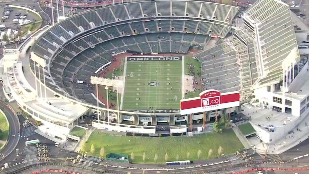 Oakland Raiders field at O.co Coliseum