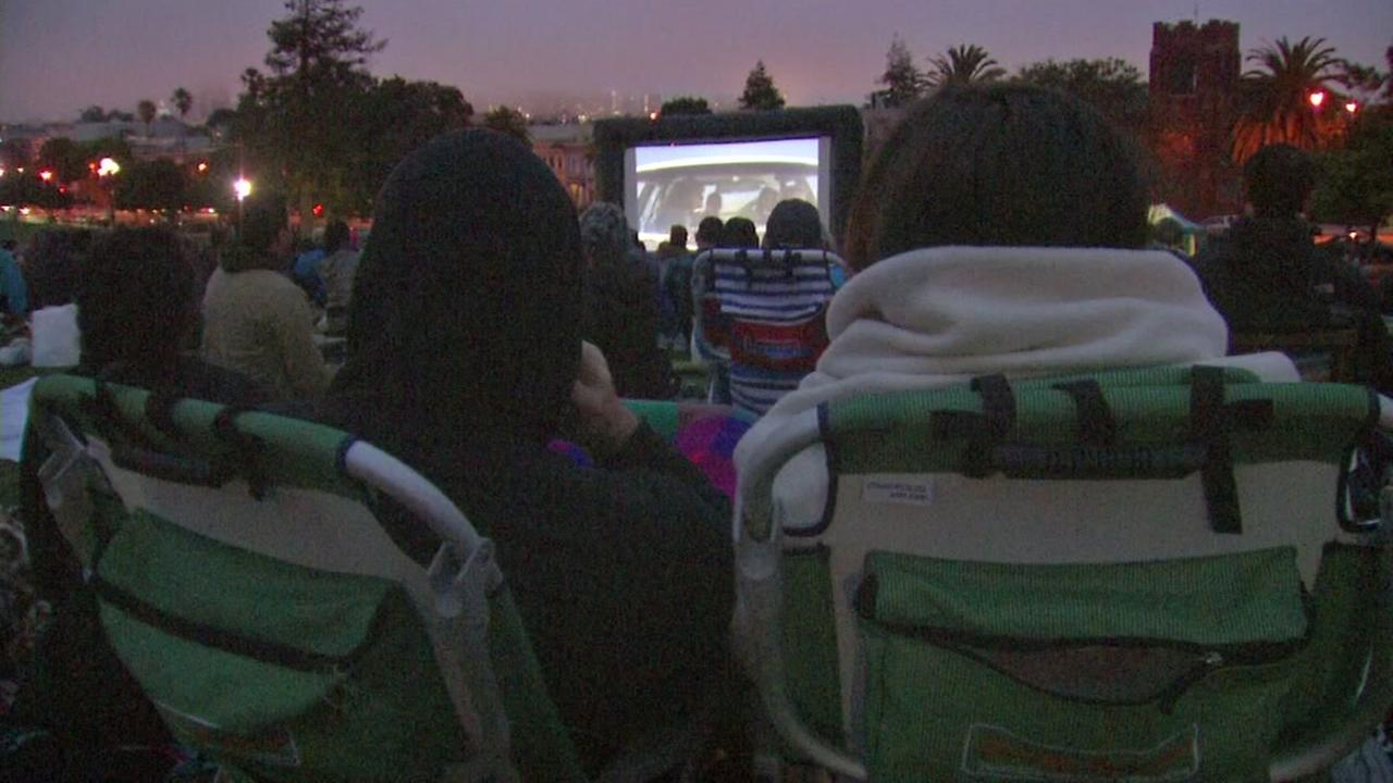 Movie night at Dolores Park in San Francisco is seen on Saturday, August 5, 2017.