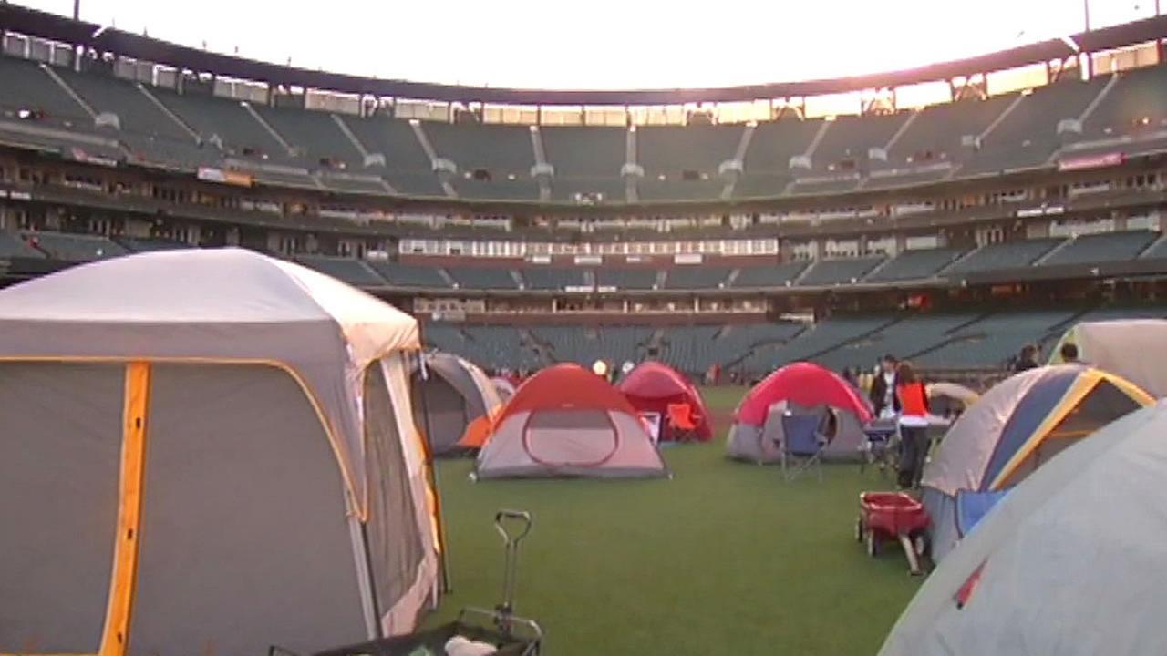 tents at AT&T Park
