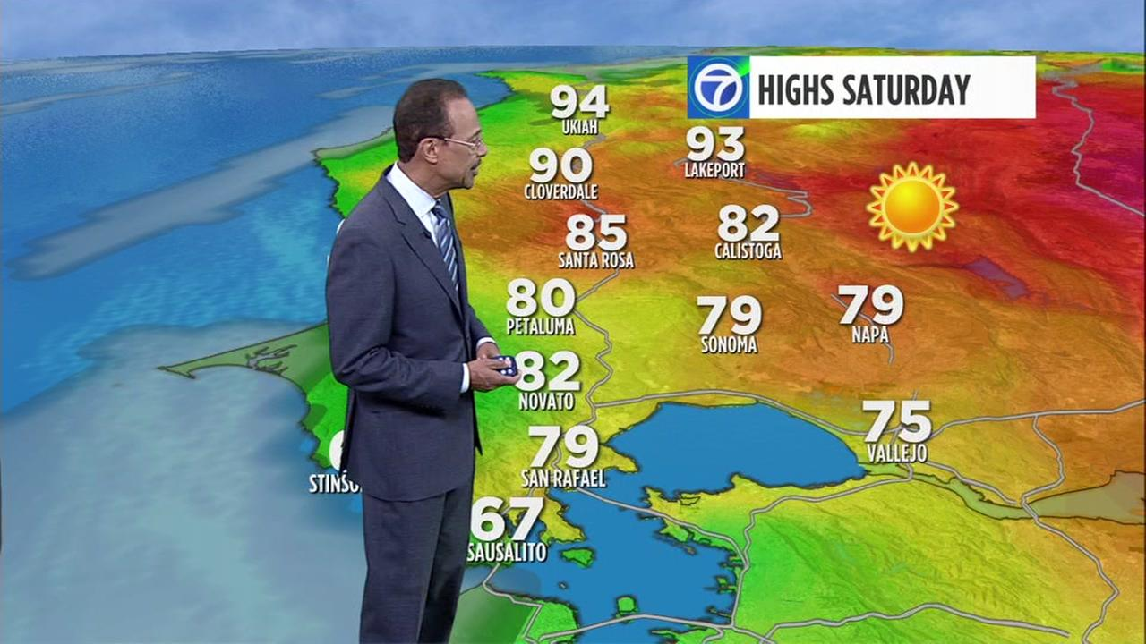 heat wave moves through bay area