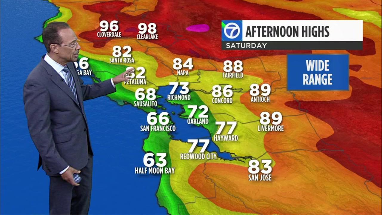 ABC7 News Weather forecast for Thursday evening