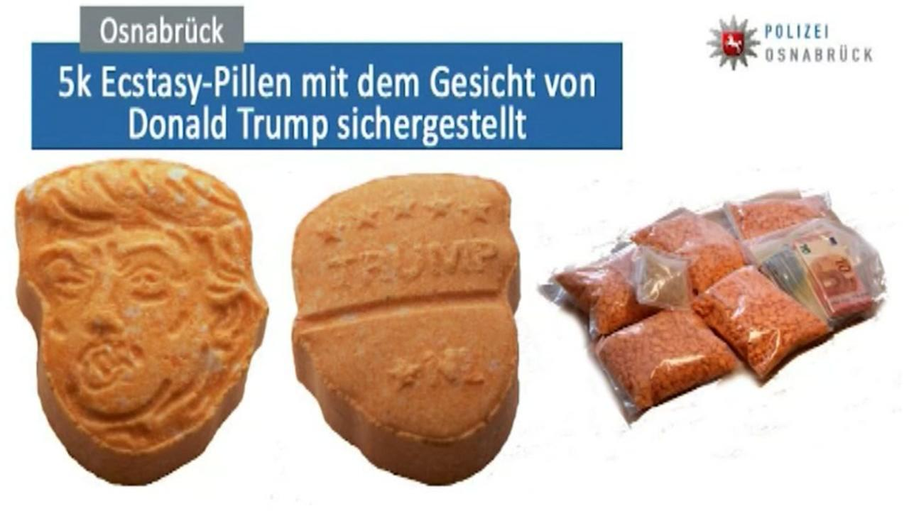 Germany officials seize ecstasy pills shaped as President Donald Trumps face