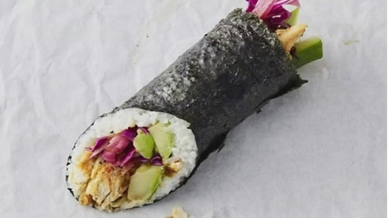 A Starbucks sushi burrito is seen in this undated image.