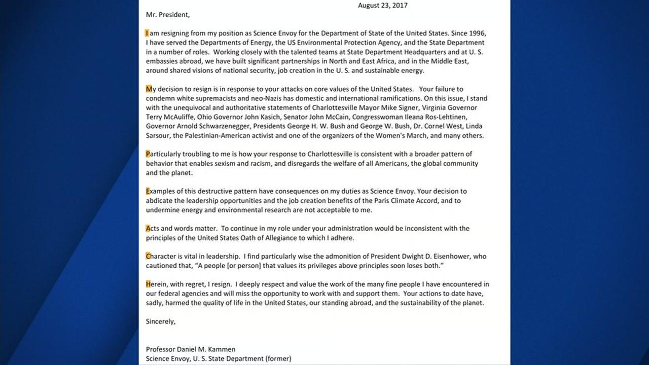 Secret message found in Cal professors resignation letter to President Trump