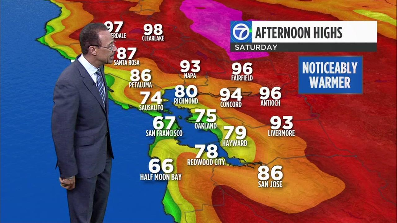 ABC7 News Weather forecast for Wednesday evening