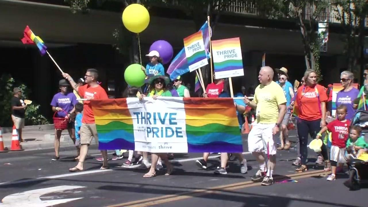Thousands take to the streets for Silicon Valley Pride