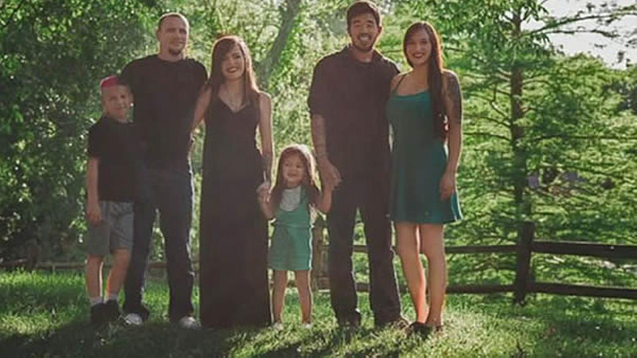 A photo of a family that went viral on Facebook is seen in this undated image.