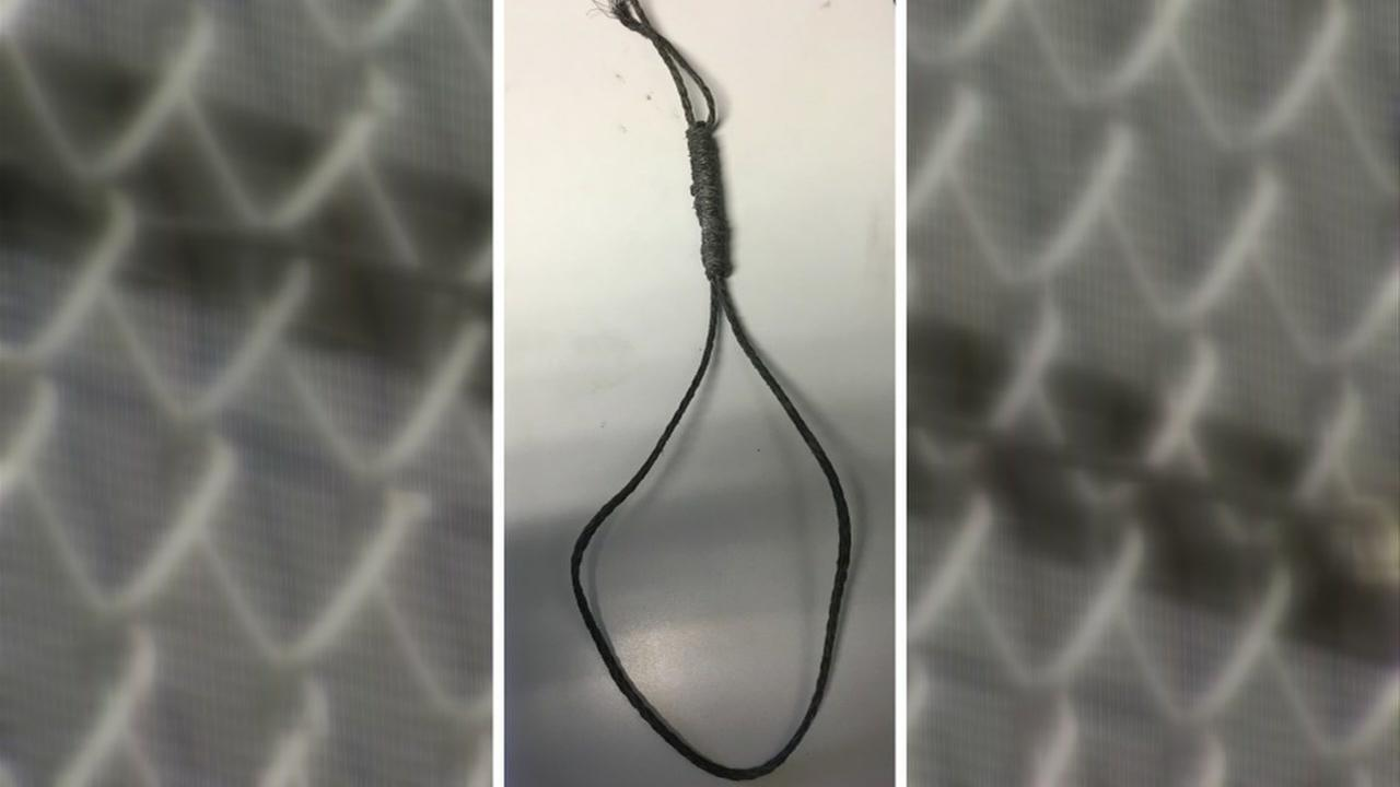 This is an undated police image of a noose found near Alameda High School in Alameda, Calif.