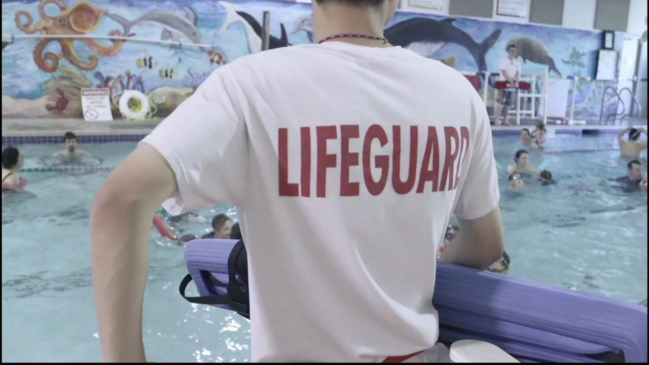 This is an undated image of a lifeguard.