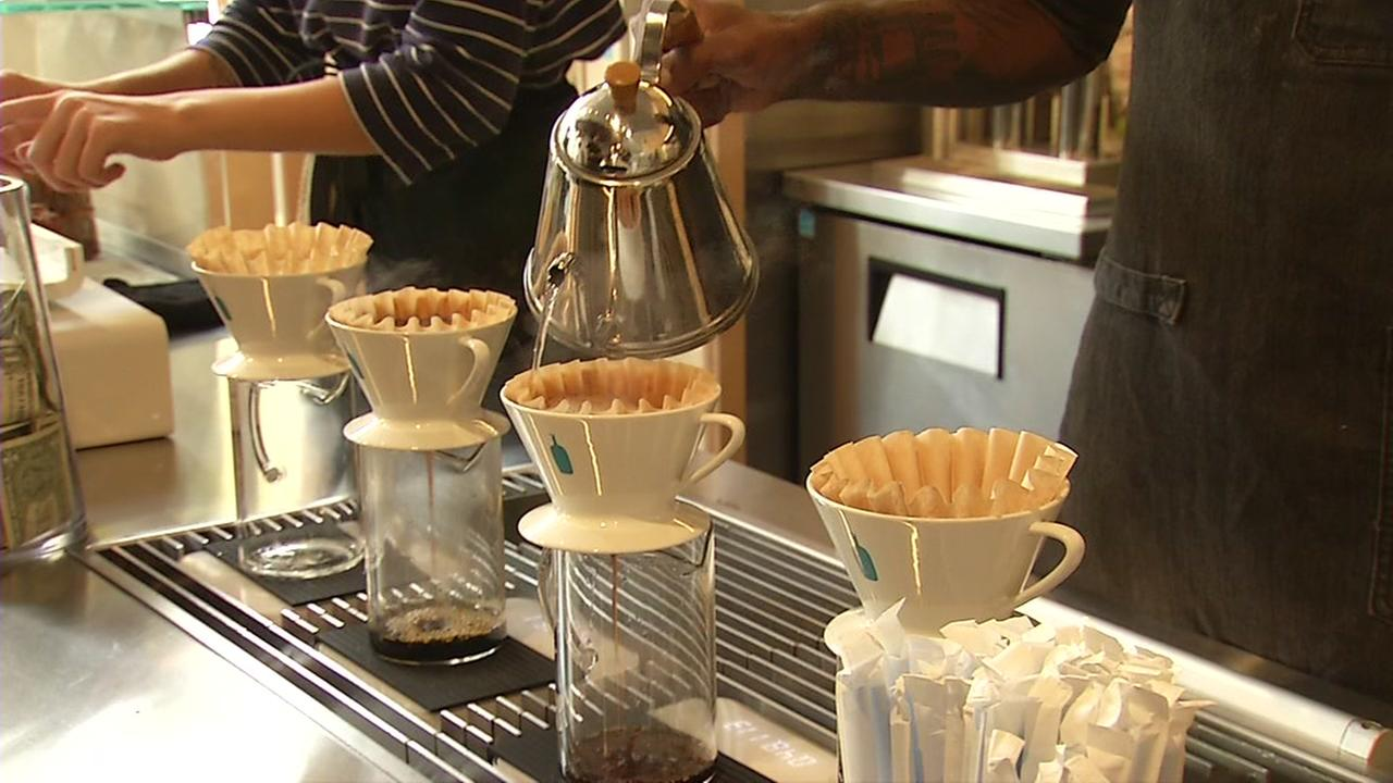 Blue Bottle drip coffee is seen in this undated image.