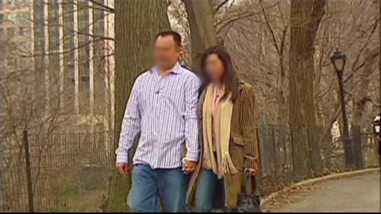 A couple is seen walking together in this undated image.