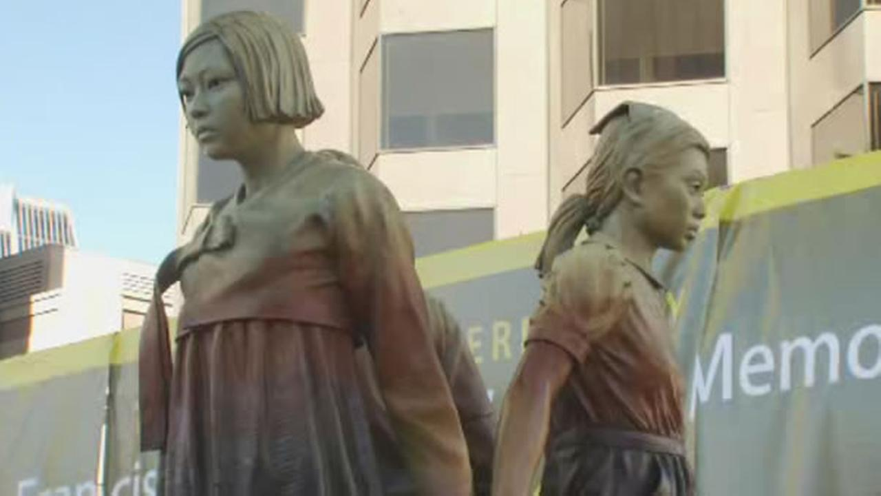 A statue honoring comfort women was unveiled on Friday, Sept. 22, 2017 in San Francisco.