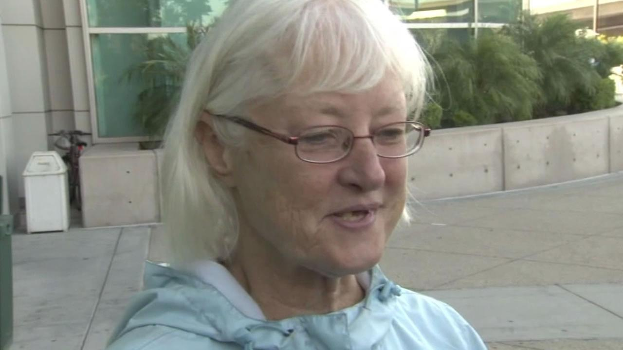 Marilyn Hartman talks to the media after her arrest